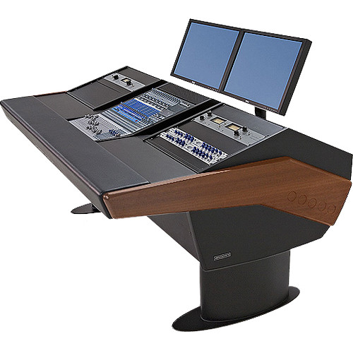 Argosy G20 Desk for Presonus StudioLive 16.4.2 Workstations with Dual 9 RU (Mahogany Finish, Black Legs)