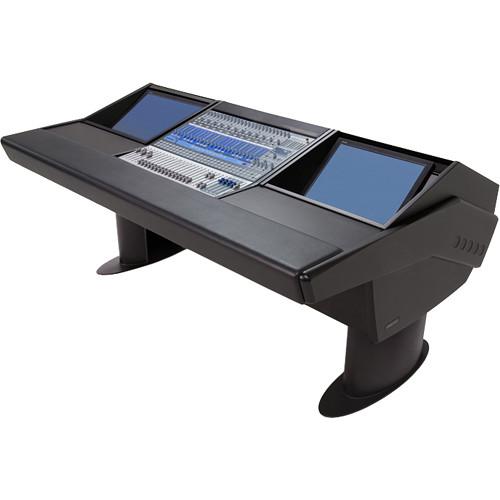 Argosy G20 Desk for Presonus StudioLive 24.4.2 Workstation with Dual Monitor Bay (Black Finish, Black Legs)