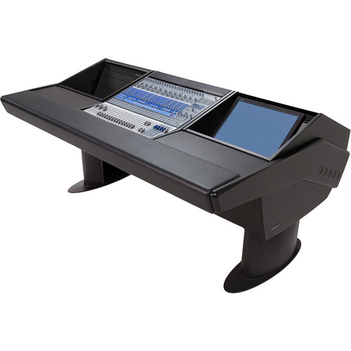 Argosy G20 Desk for Presonus StudioLive 24.4.2 Workstation with 6 RU and Monitor Bay (Black Finish, Black Legs)