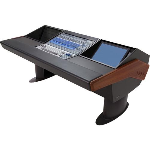 Argosy G20 Desk for Presonus StudioLive 24.4.2 Workstation with 6 RU and Monitor Bay (Mahogany Finish, Black Legs)