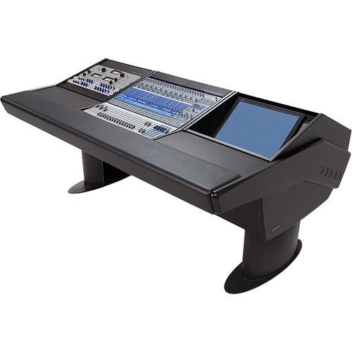 Argosy G20 Desk for Presonus StudioLive 24.4.2 Workstation with 9 RU and Monitor Bay (Black Finish, Black Legs)