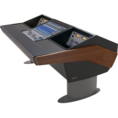 Argosy G20 Desk for Presonus StudioLive 24.4.2 Workstation with Dual 6 RU (Mahogany Finish, Gunmetal Grey Legs)