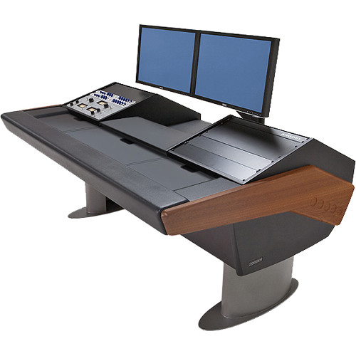 Argosy G22 Desk for Avid Artist (Euphonix) with Artist Mix 1 and Dual 9 RU (Mahogany Finish, Gunmetal Gray Legs (Non-Expandable Configuration))