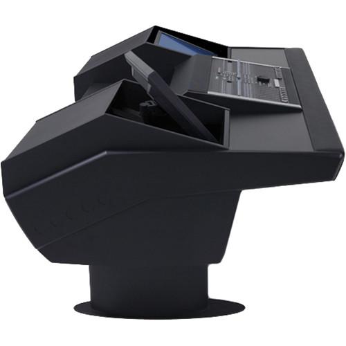 Argosy G22 Desk for Nucleus Workstation with Dual Monitor Bays (Black Finish, Black Legs)