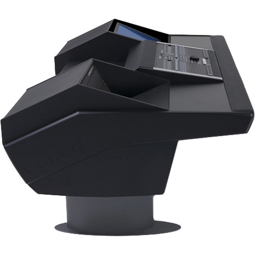 Argosy G22 Desk for Nucleus Workstation with 6 RU and Monitor Bay (Black Finish, Gunmetal Grey Legs)