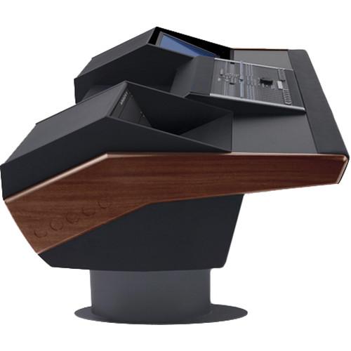 Argosy G22 Desk for Nucleus Workstation with 6 RU and Monitor Bay (Mahogany Finish, Gunmetal Grey Legs)