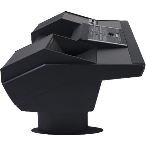 Argosy G22 Desk for Nucleus Workstation with 9 & 6 RU (Black Finish, Black Legs)