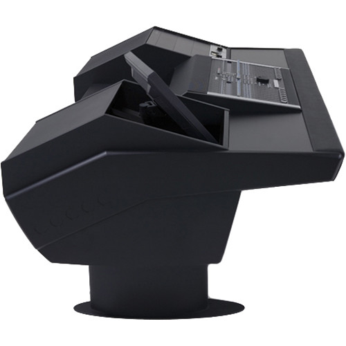 Argosy G22 Desk for Nucleus Workstation with 9 RU and Monitor Bay (Black Finish, Black Legs)