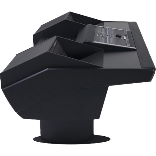 Argosy G22 Desk for Nucleus Workstation with Dual 6 RU (Black Finish, Black Legs)