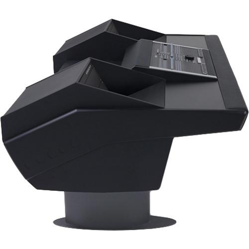 Argosy G22 Desk for Nucleus Workstation with Dual 6 RU (Black Finish, Gunmetal Grey Legs)