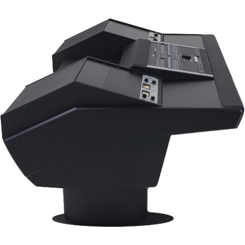 Argosy G22 Desk for Nucleus Workstation with Dual 9 RU (Black Finish, Black Legs)