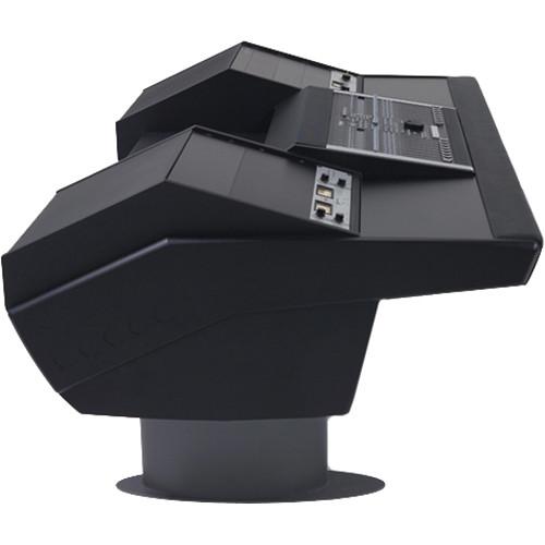 Argosy G22 Desk for Nucleus Workstation with Dual 9 RU (Black Finish, Gunmetal Grey Legs)