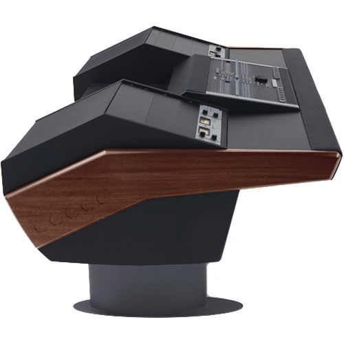 Argosy G22 Desk for Nucleus Workstation with Dual 9 RU (Mahogany Finish, Gunmetal Gray Legs)
