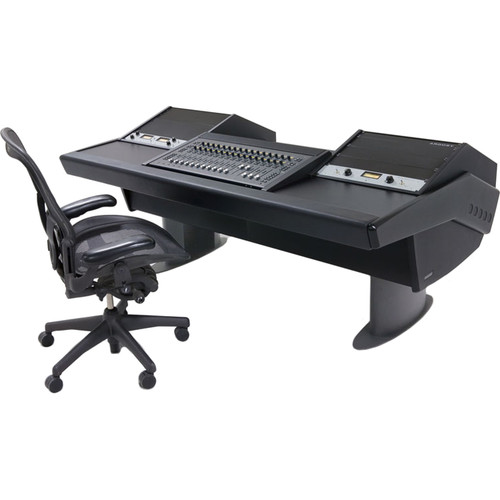 Argosy G22 Desk for Avid S3 Workstation with Dual 9 RU Racks (Black Finish, Gunmetal Gray Legs)