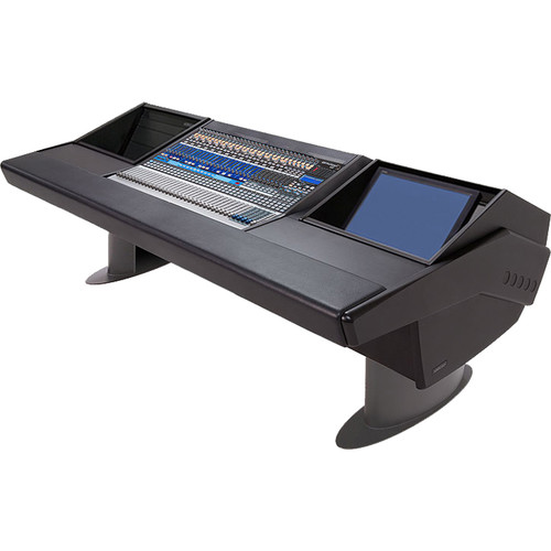 Argosy G25 Desk for Presonus StudioLive 32.4.2AI Workstation with 6 RU and Monitor Rack (Black Finish, Gunmetal Gray Legs)