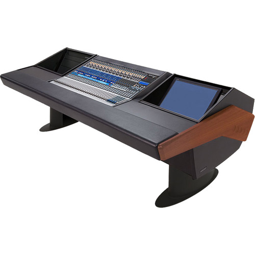 Argosy G25 Desk for Presonus StudioLive 32.4.2AI Workstation with 6 RU and Monitor Rack (Mahogany Finish, Black Legs)