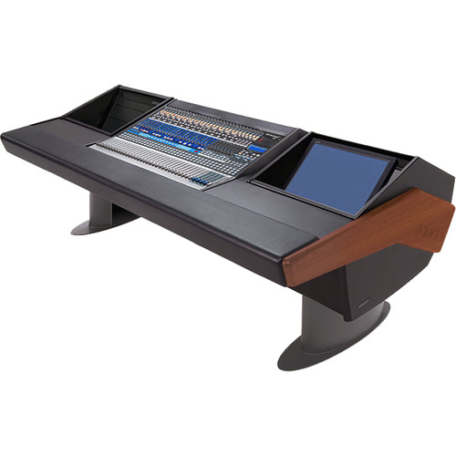 Argosy G25 Desk for Presonus StudioLive 32.4.2AI Workstation with 6 RU and Monitor Rack (Mahogany Finish, Gunmetal Gray Legs)
