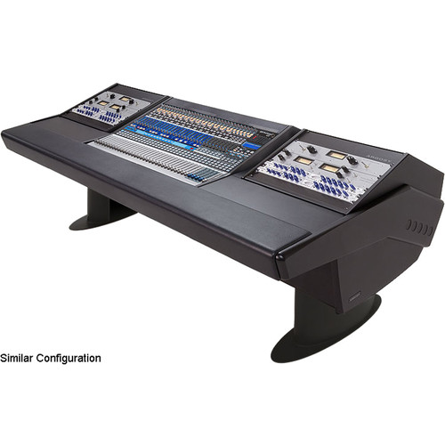 Argosy G25 Desk for Presonus StudioLive 32.4.2AI Workstation with Two 6 RU (Black Finish, Black Legs)