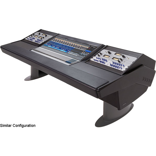 Argosy G25 Desk for Presonus StudioLive 32.4.2AI Workstation with Two 6 RU (Black Finish, Gunmetal Gray Legs)