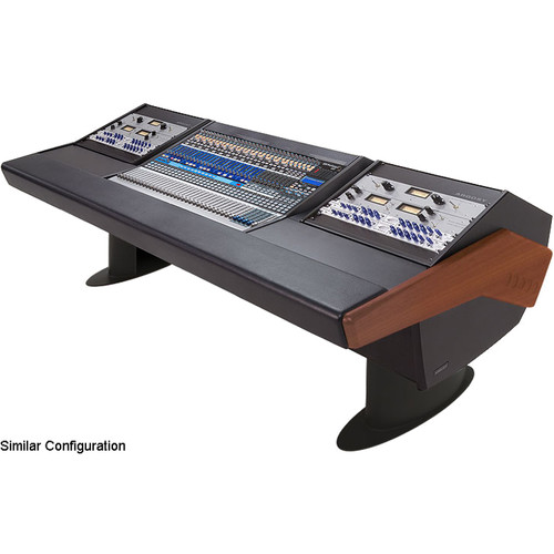 Argosy G25 Desk for Presonus StudioLive 32.4.2AI Workstation with Two 6 RU (Mahogany Finish, Black Legs)