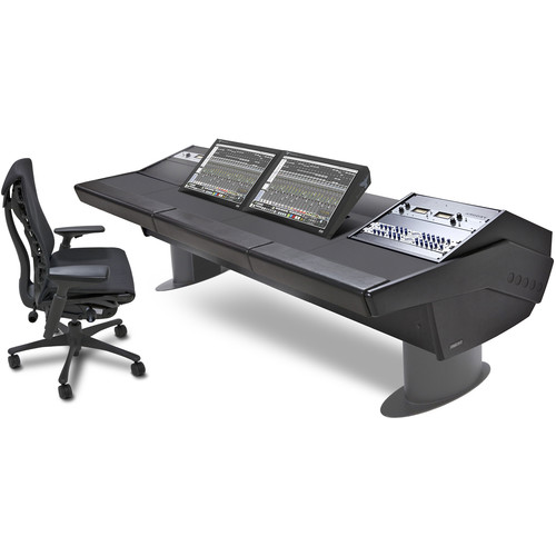 Argosy G30 Workstation Desk for Slate Raven MTi2 Console with Two 9 RU Racks (Black Finish, Black Legs)