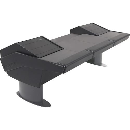 Argosy G30 Universal Desk with Two Racks (Black Trim)