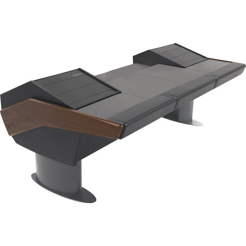 Argosy G30 Universal Desk with Two Racks (Mahogany Trim)