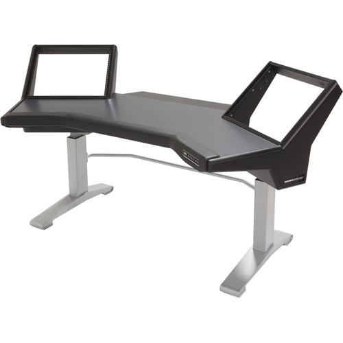 Argosy Halo Height Adjustable Desk with Black Silver Legs