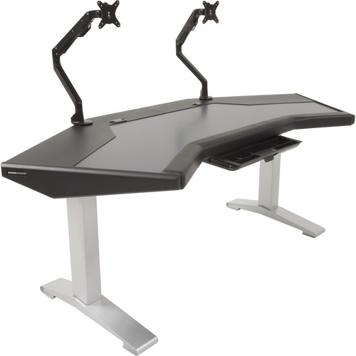 Argosy Halo.G Standard Workstation with Accessory Tray, and Two Monitor Arms