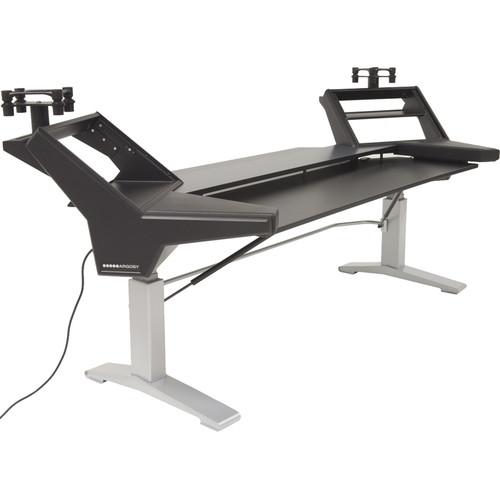 Argosy Halo.K88-E-L-B-S Plus Angled Rack Keyboard Desk