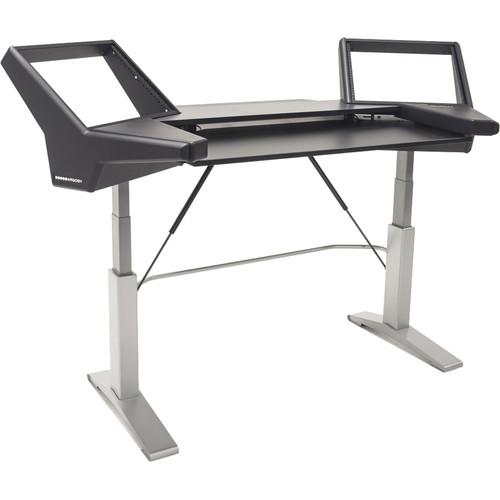 Argosy Halo Keyboard E2 Height Adjustable Keyboard Desk, Silver Legs