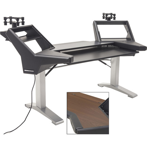Argosy Halo Keyboard E2 Height Adjustable Plus-Mahogany Keyboard,2 Rack Shelves,2-160 Platforms