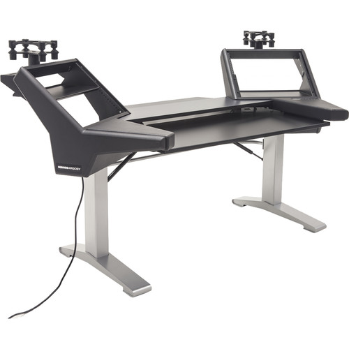 Argosy Halo Keyboard E2 Height Adjustable Plus with Halo Keyboard,2 Rack Shelves, 2-160 Platforms