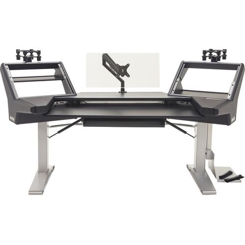 Argosy Halo Keyboard E2 Height Adj.Ult,2-Shelves,2-160,Keys Tray,D8 Monitor Arm, CPU Shelf