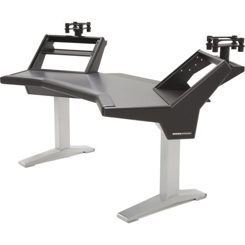 Argosy Halo Plus, with Black Desktop, 2 Rack Shelves  Pair 160 Speaker Platforms