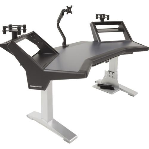 Argosy Halo Ultimate-Black,2 Shelves,2-160 Speaker Platforms,Accessory Drawer,D8 Monitor Arm,CPU Shelf