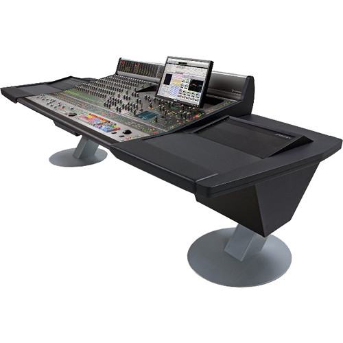 "Argosy Mirage 16-Channel Desk for Avid (Digidesign) D-Control Workstation with Dual 6 RU Rack Modules (Black, 117.6"")"
