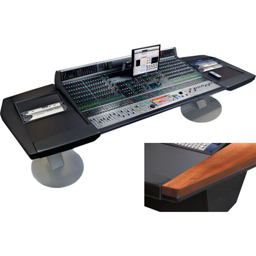 "Argosy Mirage 32-Channel Desk for Avid (Digidesign) D-Control Workstation with Dual 6 RU Rack Modules (Mahogany Hardwood, 140.8"")"