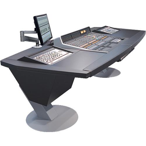 Argosy Mirage Desk for SSL Matrix Workstation with Dual 6 RU Rack Modules (Black)