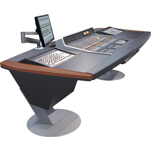 Argosy Mirage Desk for SSL Matrix Workstation with Dual 6 RU Rack Modules (Mahogany Hardwood)