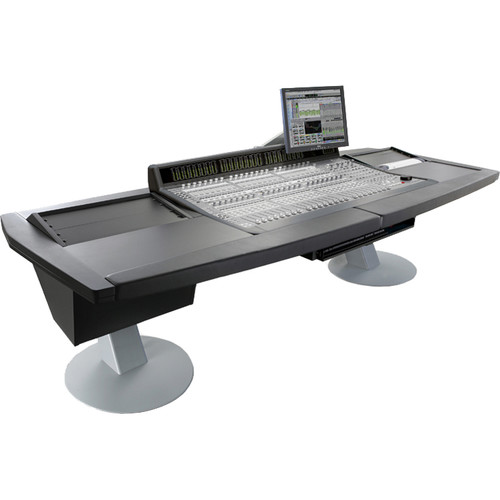 Argosy Mirage Desk for Avid (Digidesign) C-24 with two 6 RU Rack Modules (Black Finish)