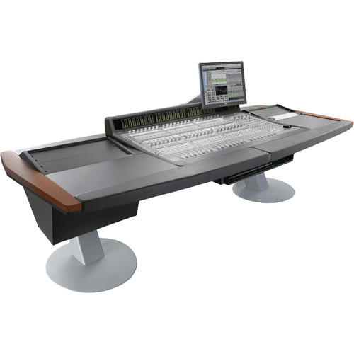 Argosy Mirage Desk for Avid (Digidesign) C-24 with two 6 RU Rack Modules (Mahogany Finish)