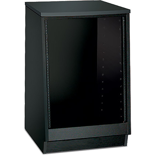 Argosy Spire 7140 Series 1-Bay Rack Enclosure (Black Melamine)