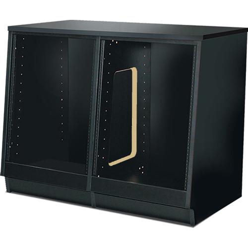 Argosy Spire 7140 Series 2-Bay Rack Enclosure (Black Melamine)