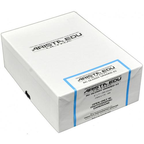"Arista EDU Ultra RC Grade #3 Black & White Photo Paper (Glossy, 5 x 7"", 250 Sheets)"