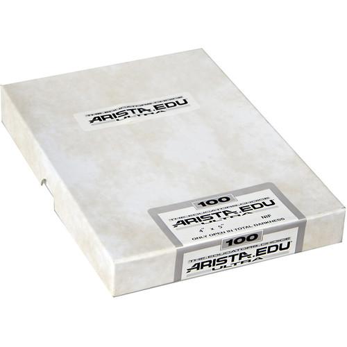 """Arista EDU Ultra 100 Black and White Negative Film (2.25 x 3.25"""", 50 Sheets)"""