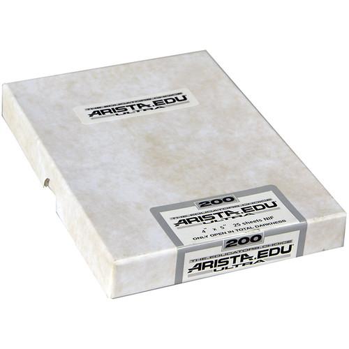 """Arista EDU Ultra 200 Black and White Negative Film (4 x 5"""", 50 Sheets)"""