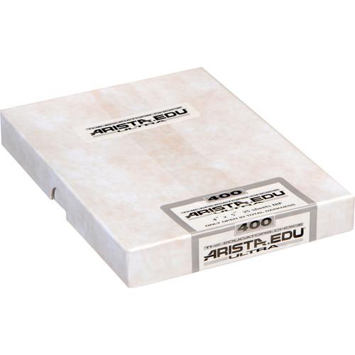 """Arista EDU Ultra 400 Black and White Negative Film (4 x 5"""", 25 Sheets)"""