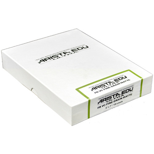 "Arista EDU Ultra VC Fine Grain Fiber-Base Black & White Photo Paper (Semi-Matte, 5 x 7"", 100 Sheets)"
