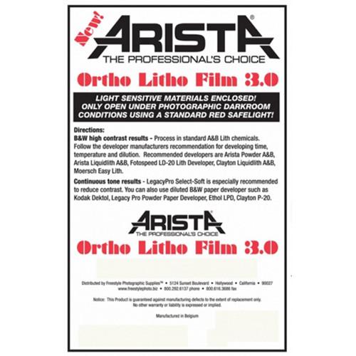 "Arista Ortho Litho 3.0 Film (10 x 12"", 100 Sheets)"